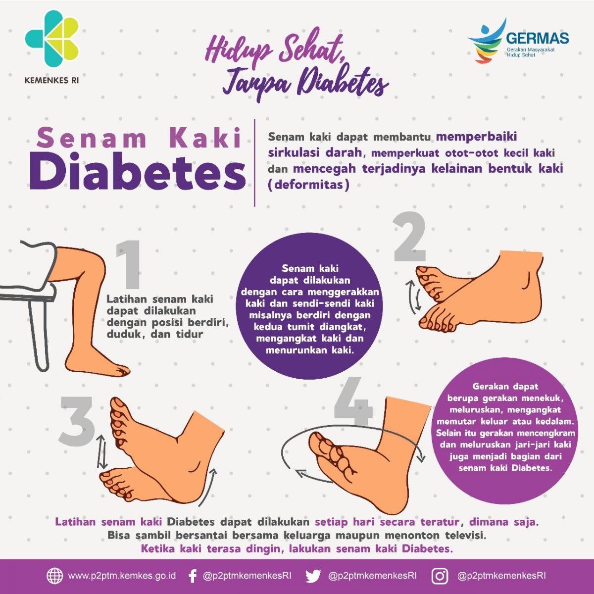 diabetes de cara melakukan senam kaki