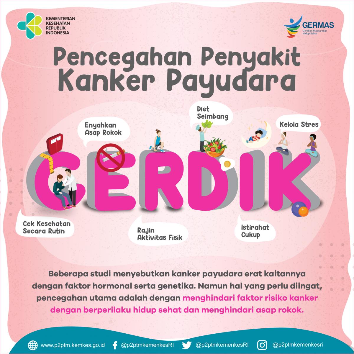 Pencegahan Penyakit Kanker Payudara dengan CERDIK. Apa itu ...